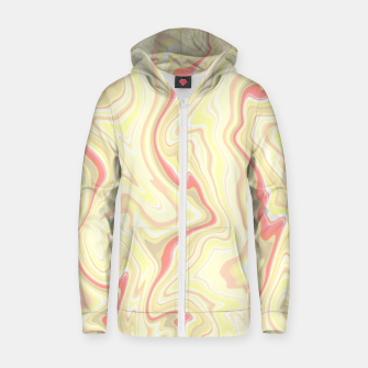 Miniature de image de Elegant cream color marble stone pattern, pink yellow and ivory abstract illustration Zip up hoodie, Live Heroes