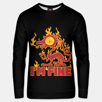 Miniatur I'm Fine Burning Dragon Unisex sweater, Live Heroes