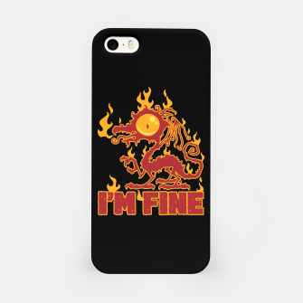 Miniatur I'm Fine Burning Dragon iPhone Case, Live Heroes