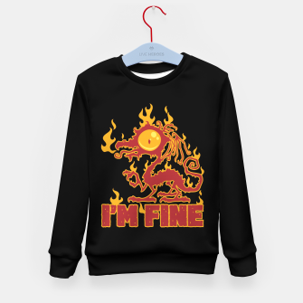 Miniatur I'm Fine Burning Dragon Kid's sweater, Live Heroes