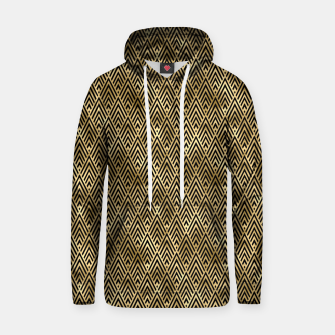 Thumbnail image of Diamond Chevrons in Black and Gold Vintage Faux Foil Art Deco Vintage Foil Pattern Hoodie, Live Heroes