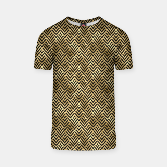 Thumbnail image of Diamond Chevrons in Black and Gold Vintage Faux Foil Art Deco Vintage Foil Pattern T-shirt, Live Heroes