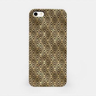 Thumbnail image of Diamond Chevrons in Black and Gold Vintage Faux Foil Art Deco Vintage Foil Pattern iPhone Case, Live Heroes