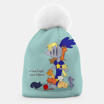 Thumbnail image of A True Knight Loves Kittens - Ernest the Knight Beanie, Live Heroes