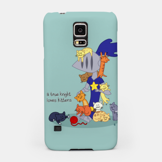 Thumbnail image of A True Knight Loves Kittens - Ernest the Knight Samsung Case, Live Heroes