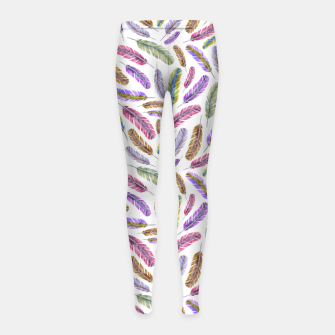 Thumbnail image of Feathers Girl's leggings, Live Heroes
