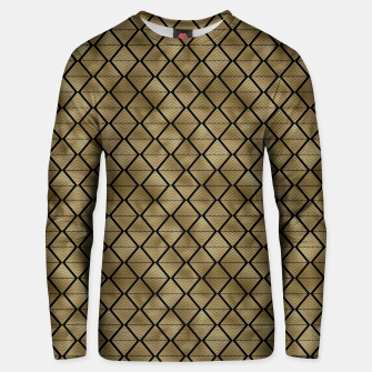 Thumbnail image of Lined Diamonds in Black and Gold Vintage Faux Foil Art Deco Vintage Foil Pattern Unisex sweater, Live Heroes