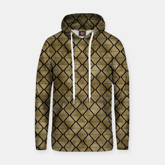 Thumbnail image of Lined Diamonds in Black and Gold Vintage Faux Foil Art Deco Vintage Foil Pattern Hoodie, Live Heroes