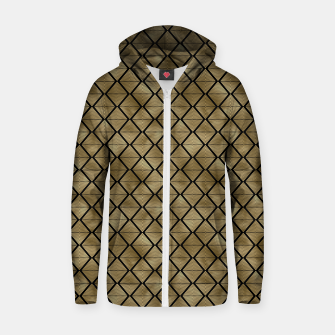 Thumbnail image of Lined Diamonds in Black and Gold Vintage Faux Foil Art Deco Vintage Foil Pattern Zip up hoodie, Live Heroes