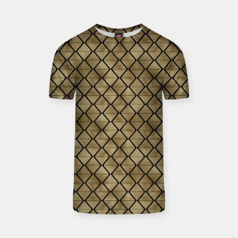 Thumbnail image of Lined Diamonds in Black and Gold Vintage Faux Foil Art Deco Vintage Foil Pattern T-shirt, Live Heroes