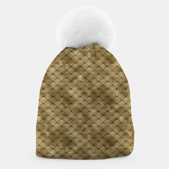 Thumbnail image of Ringed Scales in Black and Gold Vintage Faux Foil Art Deco Vintage Foil Pattern Beanie, Live Heroes