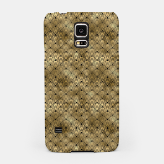 Thumbnail image of Ringed Scales in Black and Gold Vintage Faux Foil Art Deco Vintage Foil Pattern Samsung Case, Live Heroes