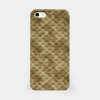 Thumbnail image of Ringed Scales in Black and Gold Vintage Faux Foil Art Deco Vintage Foil Pattern iPhone Case, Live Heroes