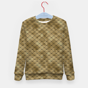 Thumbnail image of Ringed Scales in Black and Gold Vintage Faux Foil Art Deco Vintage Foil Pattern Kid's sweater, Live Heroes