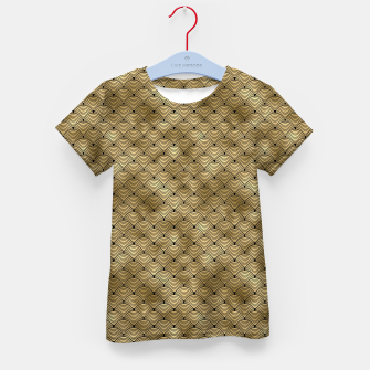 Thumbnail image of Ringed Scales in Black and Gold Vintage Faux Foil Art Deco Vintage Foil Pattern Kid's t-shirt, Live Heroes
