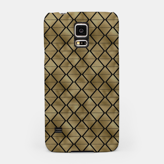 Thumbnail image of Lined Diamonds in Black and Gold Vintage Faux Foil Art Deco Vintage Foil Pattern Samsung Case, Live Heroes
