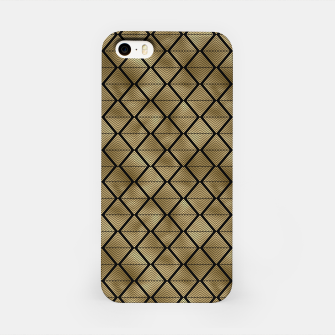Thumbnail image of Lined Diamonds in Black and Gold Vintage Faux Foil Art Deco Vintage Foil Pattern iPhone Case, Live Heroes
