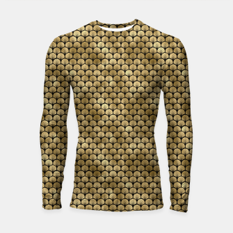 Thumbnail image of Fan Palms in Black and Gold Vintage Faux Foil Art Deco Vintage Foil Pattern Longsleeve rashguard , Live Heroes