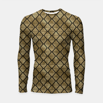 Thumbnail image of Lined Diamonds in Black and Gold Vintage Faux Foil Art Deco Vintage Foil Pattern Longsleeve rashguard , Live Heroes