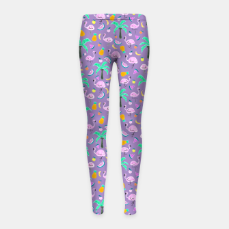 Thumbnail image of Pastel Paradise - Pastel Violet Girl's leggings, Live Heroes