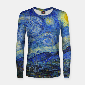 Thumbnail image of The Starry Night Vincent van Gogh Women sweater, Live Heroes