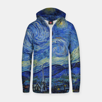 Thumbnail image of The Starry Night Vincent van Gogh Zip up hoodie, Live Heroes