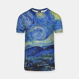 Thumbnail image of The Starry Night Vincent van Gogh T-shirt, Live Heroes