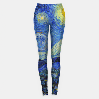 Thumbnail image of The Starry Night Vincent van Gogh Leggings, Live Heroes