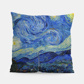 Thumbnail image of The Starry Night Vincent van Gogh Pillow, Live Heroes