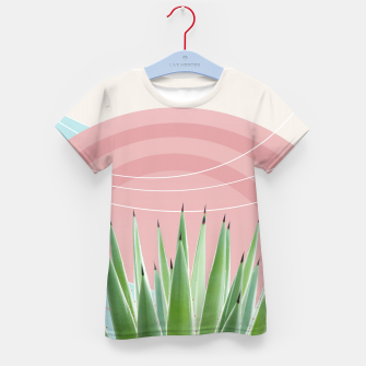 Miniatur Agave in the Desert Oasis #2 #tropical #wall #art  T-Shirt für kinder, Live Heroes