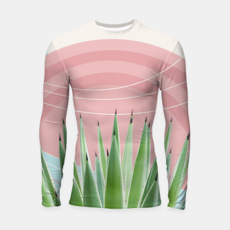 Miniatur Agave in the Desert Oasis #2 #tropical #wall #art  Longsleeve rashguard, Live Heroes