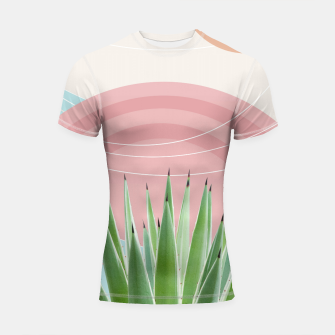 Miniatur Agave in the Desert Oasis #2 #tropical #wall #art  Shortsleeve rashguard, Live Heroes