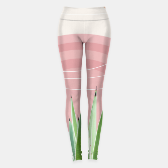 Miniatur Agave in the Desert Oasis #2 #tropical #wall #art  Leggings, Live Heroes