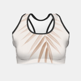 Thumbnail image of Palm Leaf Finesse #1 #minimal #tropical #decor #art  Crop Top, Live Heroes