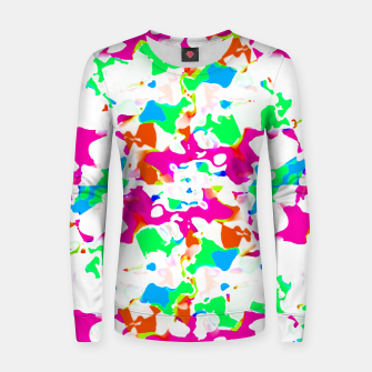 Miniature de image de Vibrant Multicolored Abstract Print Women sweater, Live Heroes