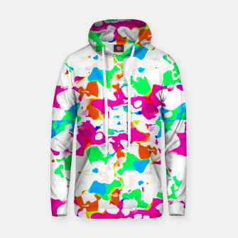 Miniature de image de Vibrant Multicolored Abstract Print Hoodie, Live Heroes