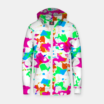 Thumbnail image of Vibrant Multicolored Abstract Print Zip up hoodie, Live Heroes