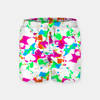 Thumbnail image of Vibrant Multicolored Abstract Print Swim Shorts, Live Heroes