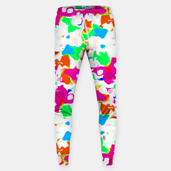 Thumbnail image of Vibrant Multicolored Abstract Print Sweatpants, Live Heroes