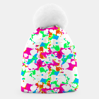Thumbnail image of Vibrant Multicolored Abstract Print Beanie, Live Heroes