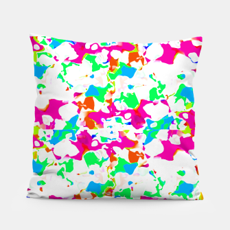 Thumbnail image of Vibrant Multicolored Abstract Print Pillow, Live Heroes