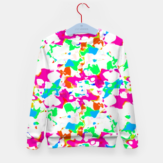 Miniature de image de Vibrant Multicolored Abstract Print Kid's sweater, Live Heroes