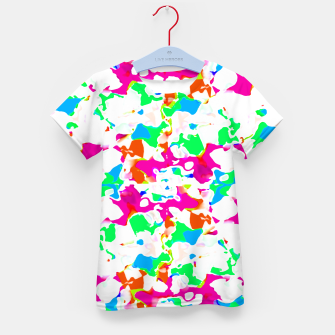 Thumbnail image of Vibrant Multicolored Abstract Print Kid's t-shirt, Live Heroes