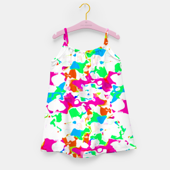 Miniature de image de Vibrant Multicolored Abstract Print Girl's dress, Live Heroes