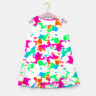 Miniature de image de Vibrant Multicolored Abstract Print Girl's summer dress, Live Heroes