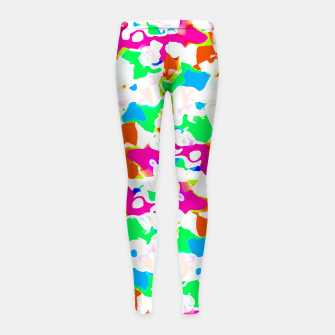 Thumbnail image of Vibrant Multicolored Abstract Print Girl's leggings, Live Heroes