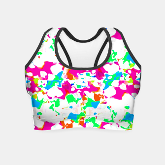 Thumbnail image of Vibrant Multicolored Abstract Print Crop Top, Live Heroes