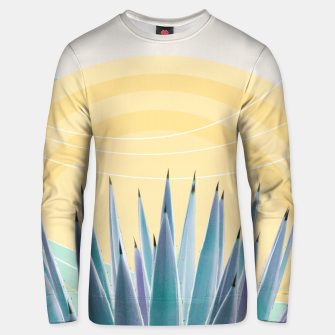 Miniatur Agave in the Desert Oasis #3 #tropical #wall #art  Unisex sweatshirt, Live Heroes