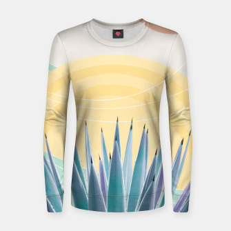 Miniatur Agave in the Desert Oasis #3 #tropical #wall #art  Frauen sweatshirt, Live Heroes