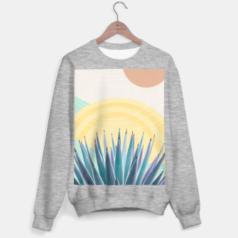 Miniatur Agave in the Desert Oasis #3 #tropical #wall #art  Sweatshirt regulär, Live Heroes